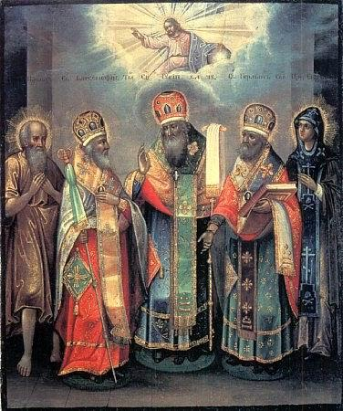 Икона святых Гурия архиепископа Казанского и Варсонофия епископа Тверского