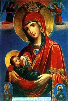 Икона Пресвятой Богородицы, именуемая Млекопитательница